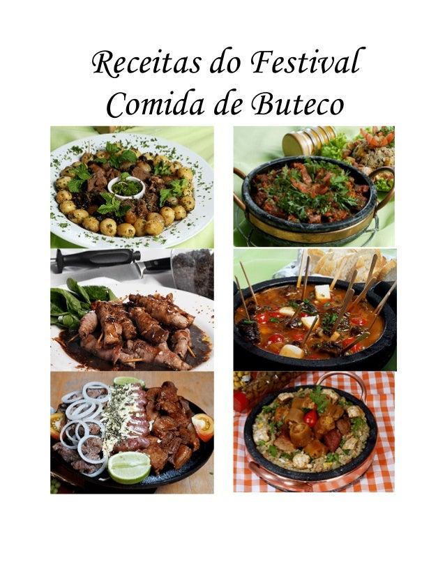 Receitas do Festival Comida de Buteco
