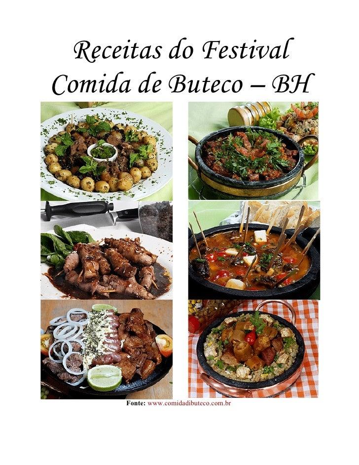 Receitas do Festival Comida de Buteco – BH           Fonte: www.comidadibuteco.com.br