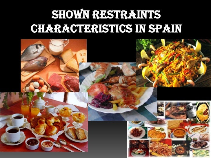 Shown restraints characteristics in Spain<br />