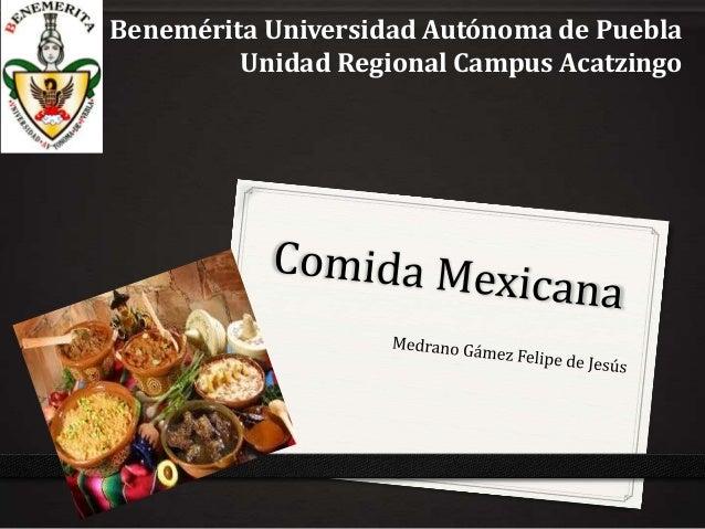 Benemérita Universidad Autónoma de Puebla Unidad Regional Campus Acatzingo