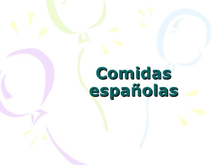 Comidas españolas