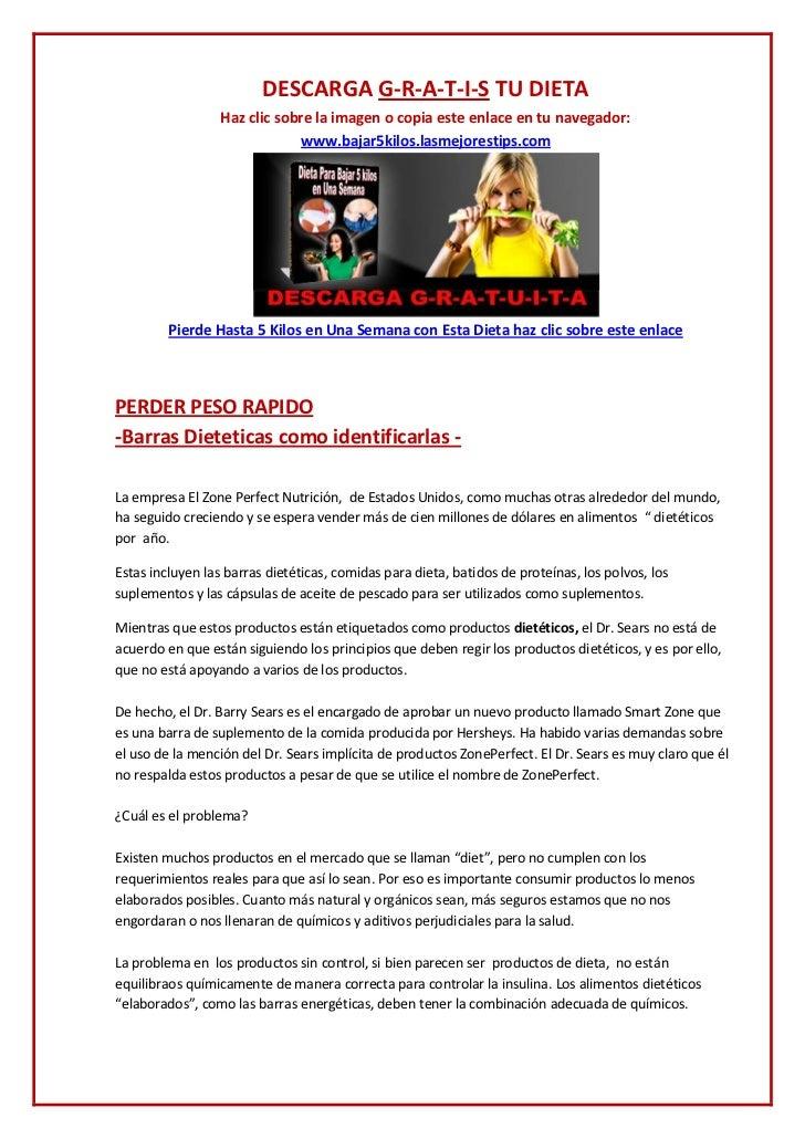 DESCARGA G-R-A-T-I-S TU DIETA <br /><ul><li>Haz clic sobre la imagen o copia este enlace en tu navegador:  www.bajar5kilos...