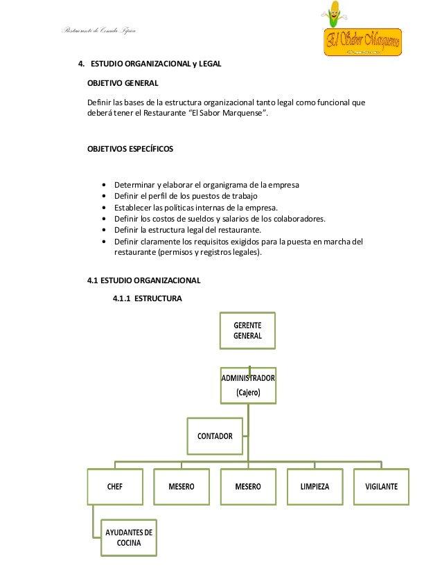 Comidas tipicas for Manual de funciones de un restaurante pdf