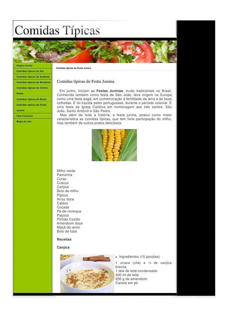 Página Inicial                               Comidas típicas de Festa Junina Comidas típicas do Sul  Comidas típicas do Su...