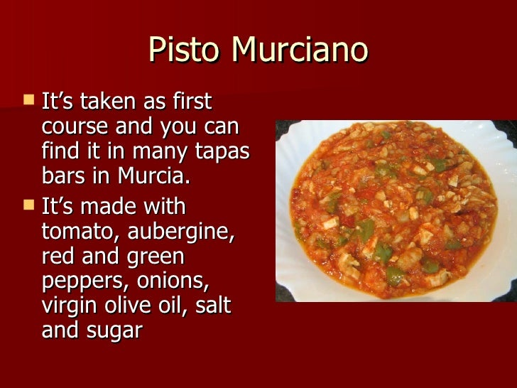 traditional food from murcia done by sergio buendía y williams