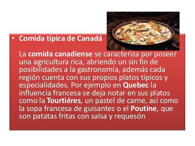 Comida t pica de canad slideshare for Comida francesa platos tipicos