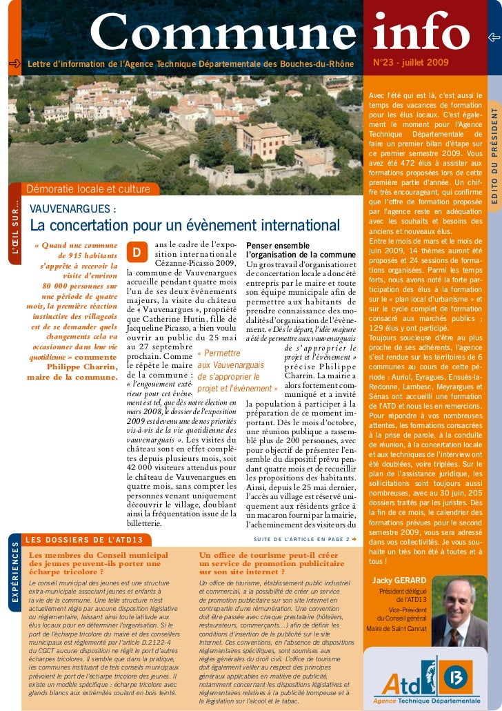 Lettre d'information de l'Agence Technique Départementale des Bouches-du-Rhône                                            ...