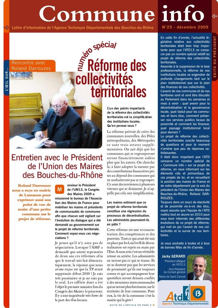 edito du président                         o spécial                 r             numé                Réforme des        ...