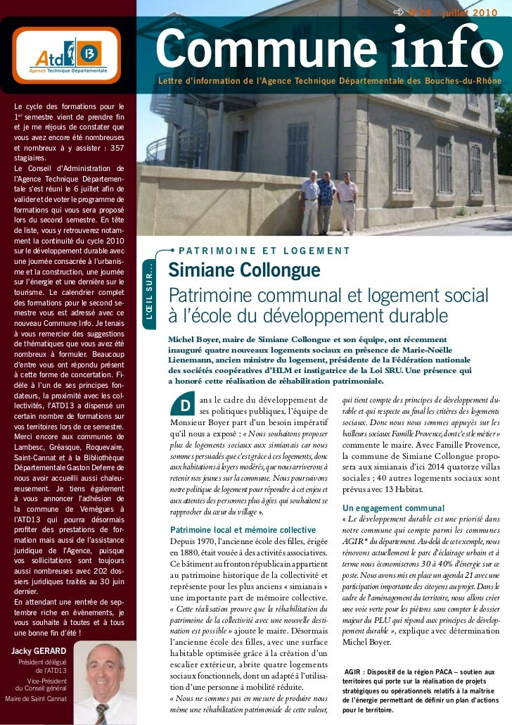 n°28 - juillet 2010                                                                  Commune info                         ...