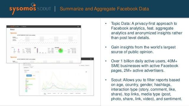 Summarize and Aggregate Facebook Data