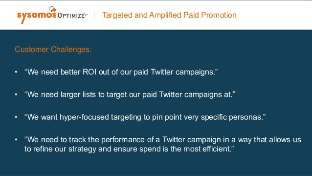 Targeted and Amplified Paid Promotion • Look-a-like modeling to expand your list and discover other prospects who share at...