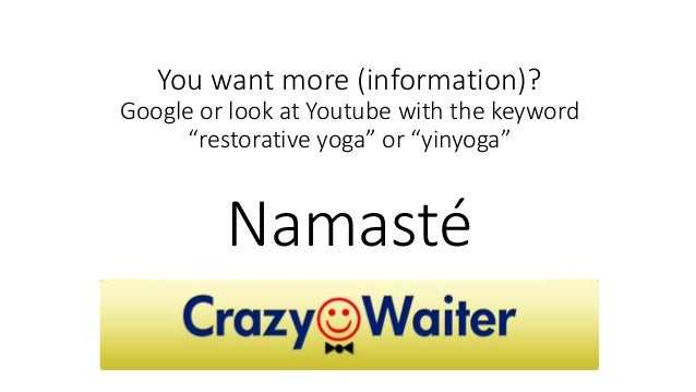Coming home yoga for CrazyWaiters