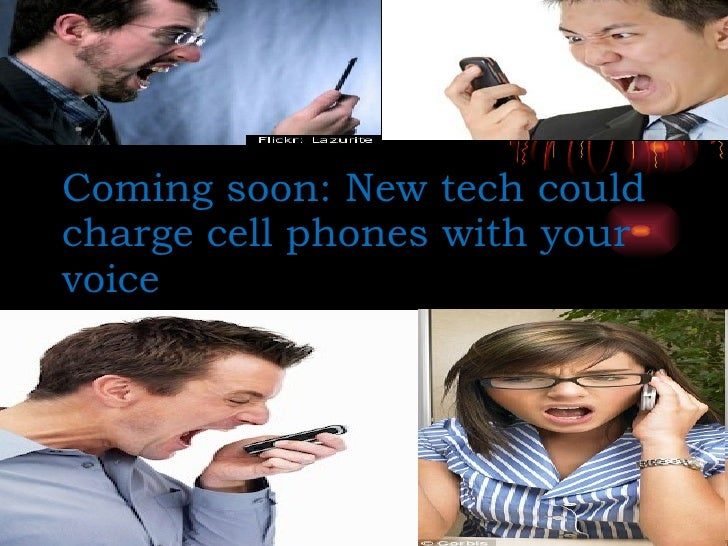 Coming soon: New tech could charge cell phones with your voice