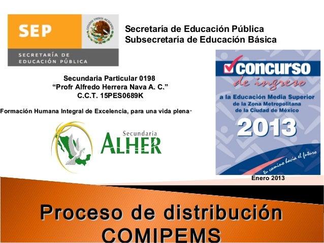 Secretaría de Educación Pública                                         Subsecretaría de Educación Básica                 ...