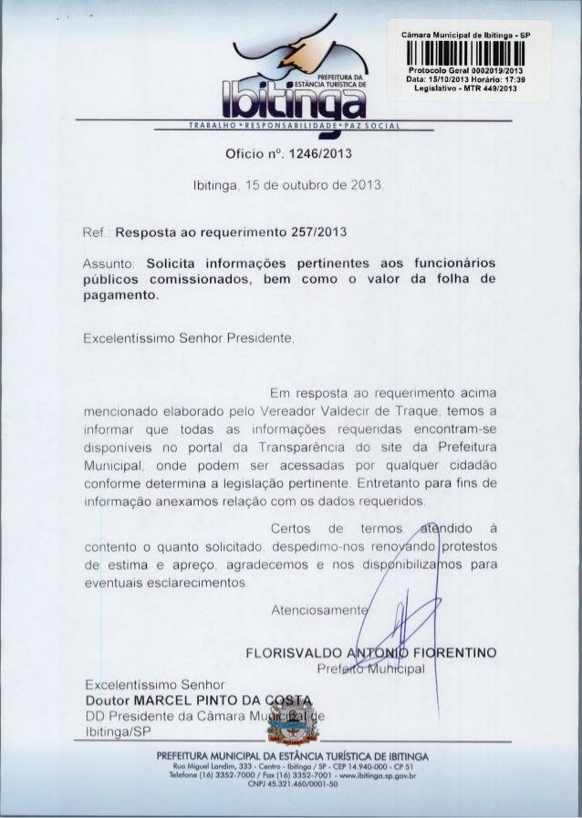 Cãmara Municipal de 'Pitinga - SP  1111 1 1111 1111 1 1111111111  PREFEITURA DA O ESTÂNCIA TURÍSTICA DE  P otocolo Geral 0...