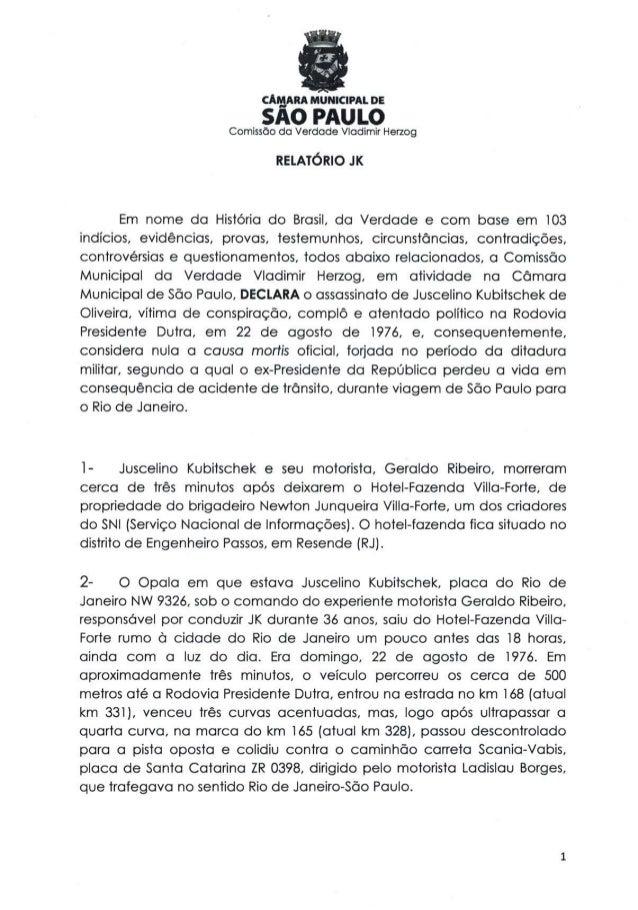 Comissão da verdade   relatório jk - 24 fevereiro 2014