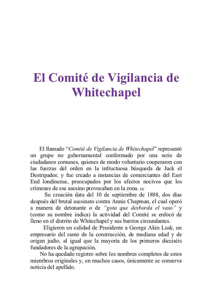 Comité de vigilancia de whitechapel