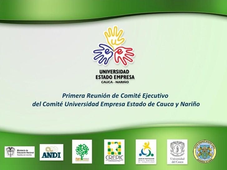 Primera Reunión de Comité Ejecutivo del Comité Universidad Empresa Estado de Cauca y Nariño