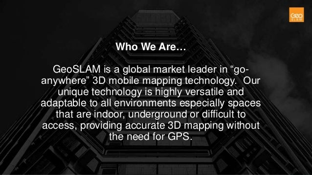 CD Autumn 2017 - Geoslam presentation