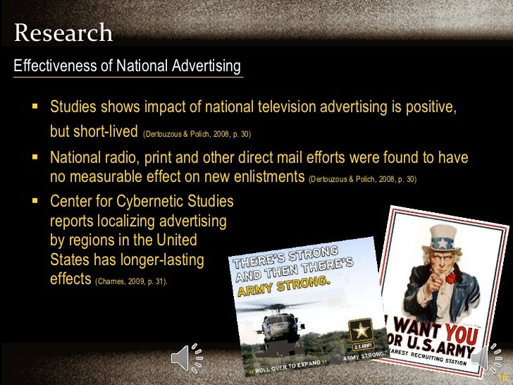 Research <ul><li>Studies shows impact of national television advertising is positive, but short-lived   (Dertouzous & Poli...