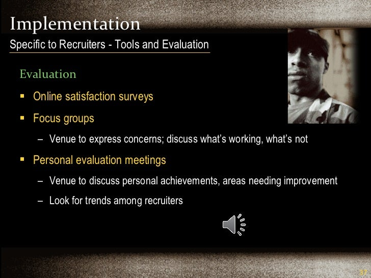 Implementation <ul><li>Evaluation </li></ul><ul><li>Online satisfaction surveys </li></ul><ul><li>Focus groups </li></ul><...