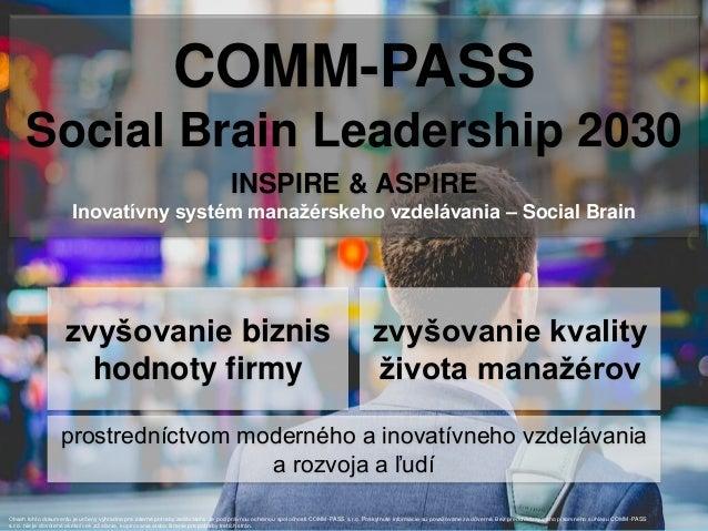 COMM-PASS portfólio - manažérske vzdelávanie (workshopy, tréningy, poradenstvo) Slide 2