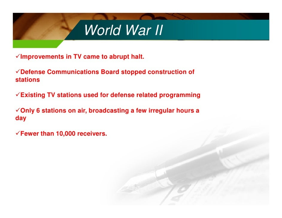 history of tv broadcasting essay Comparison and contrast of different radio and tv formats:tv news introduction to broadcasting mass communication.