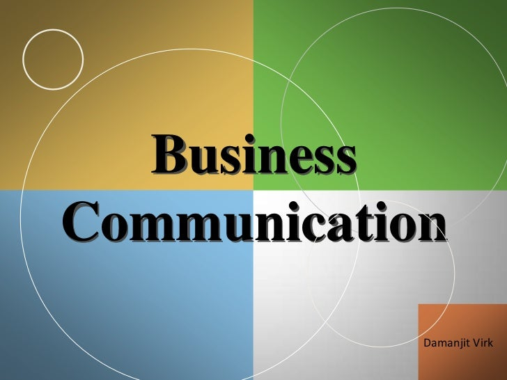 BusinessCommunication            Damanjit Virk