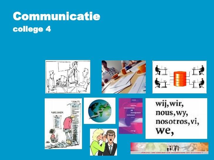 Communicatie college 4