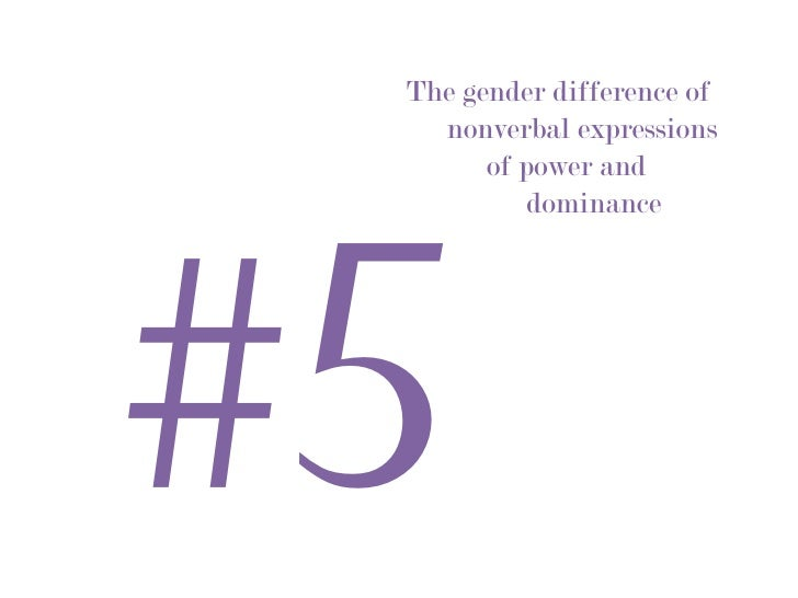 nonverbal expressions of power and dominance