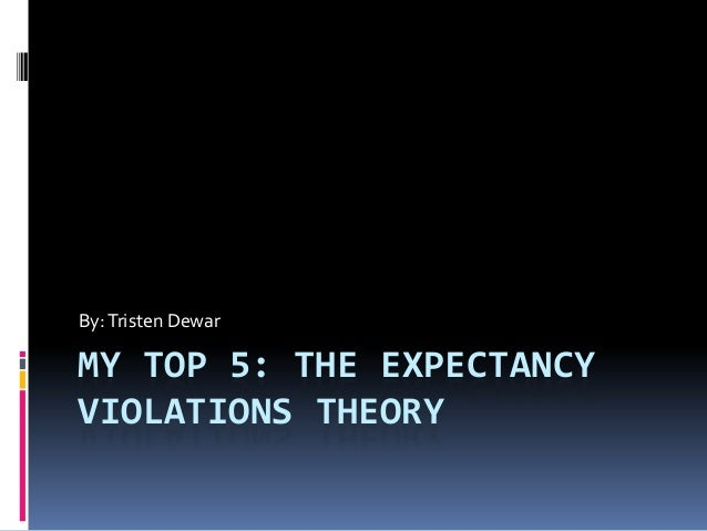 MY TOP 5: THE EXPECTANCY VIOLATIONS THEORY By:Tristen Dewar