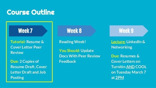 Tutorial 5 Resume & Cover Letter Peer Review T27 & T34