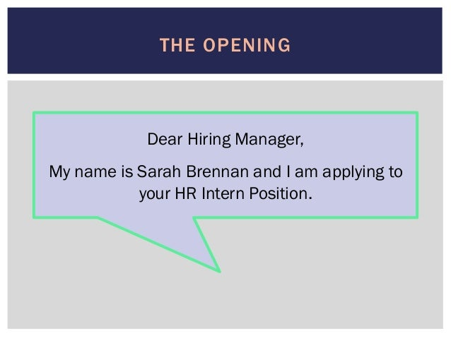 Can You Name Drop Intern In Cover Letter