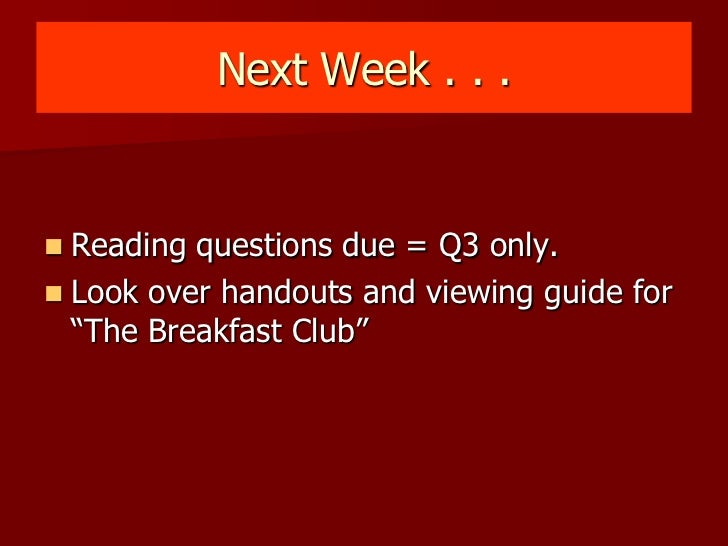 Breakfast club communication theory