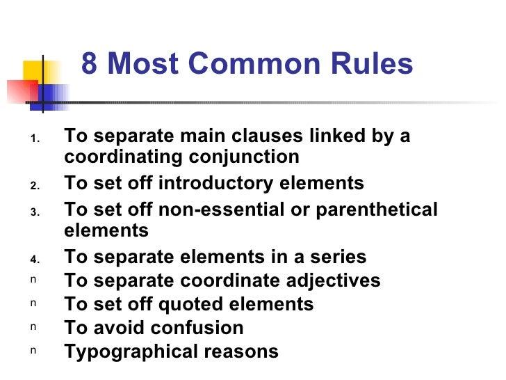 Basic Rules Of English Grammar