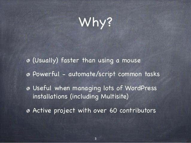 Command Line WordPress with WP-CLI Slide 3