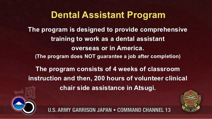 Dental Assistant ProgramThe program is designed to provide comprehensive       training to work as a dental assistant     ...