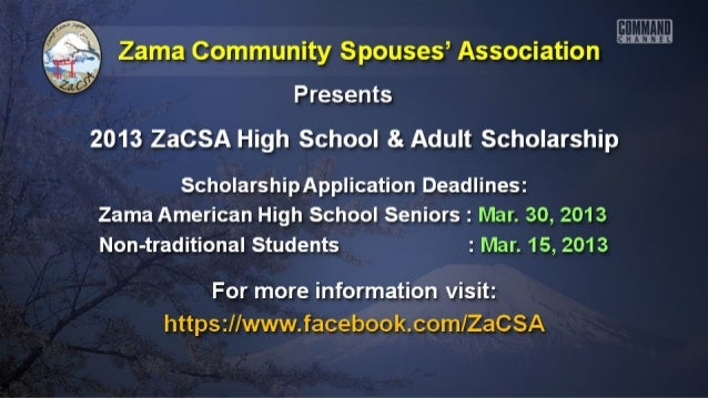 Zama Community Spouses' Association    You are invited to Donate at Basket, Service,     or Other Item for the ZaCSA Baske...