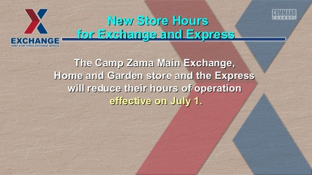 The Camp Zama Main Exchange,The Camp Zama Main Exchange, Home and Garden store and the ExpressHome and Garden store and th...