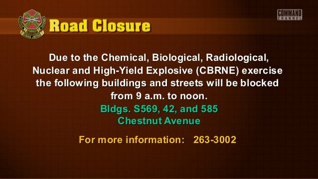 Due to the Chemical, Biological, Radiological,Due to the Chemical, Biological, Radiological,Nuclear and High-Yield Explosi...