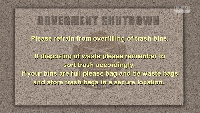 Please refrain from overfilling of trash bins.Please refrain from overfilling of trash bins. If disposing of waste please ...