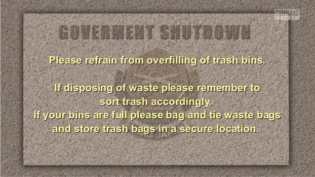 Please refrain from overfilling of trash bins. If disposing of waste please remember to sort trash accordingly. If your bi...