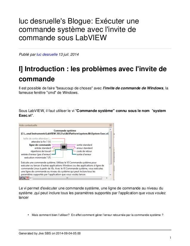 Generated by Jive SBS on 2014-09-04-05:00  1  luc desruelle's Blogue: Exécuter une  commande système avec l'invite de  com...