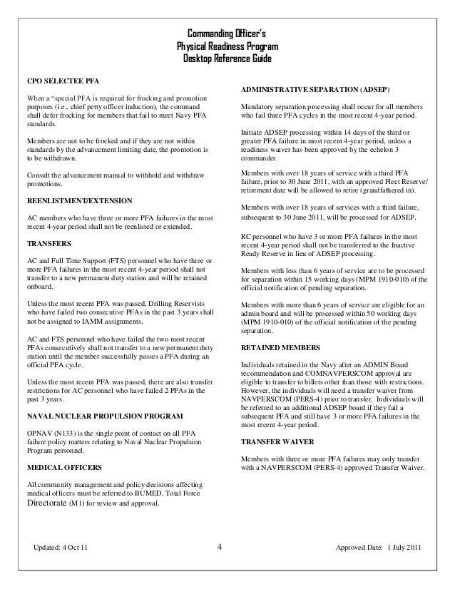 commanding officer s desktop reference guide rh slideshare net Army PRT Army Physical Fitness