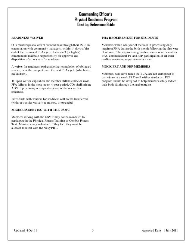 Commanding officer's desktop reference guide