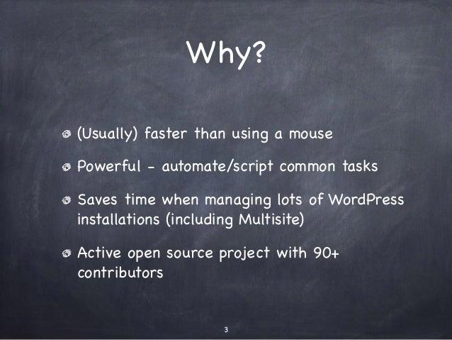 Command Line WordPress with WP-CLI - WordPress Perth User Group Slide 3