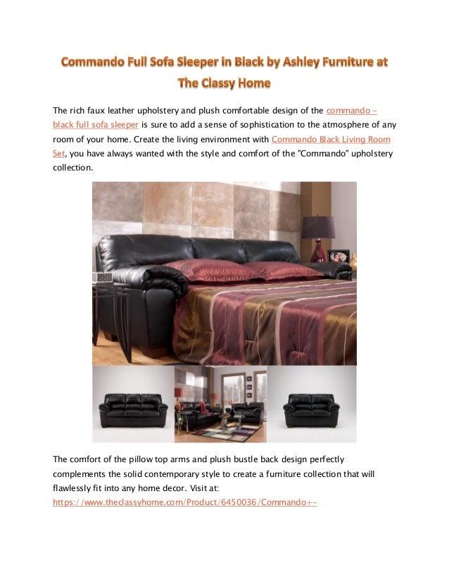 Ashley Commando Full Sofa Sleeper In Black The Classy Home