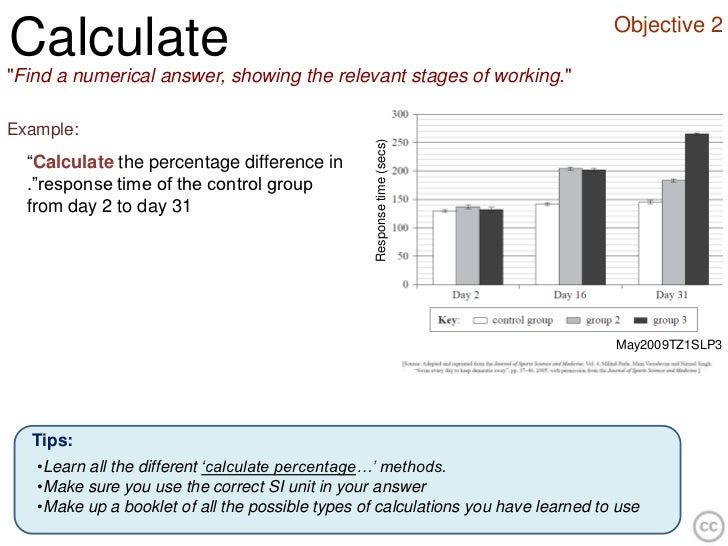 """Objective 2Calculate""""Find a numerical answer, showing the relevant stages of working.""""Example:                            ..."""
