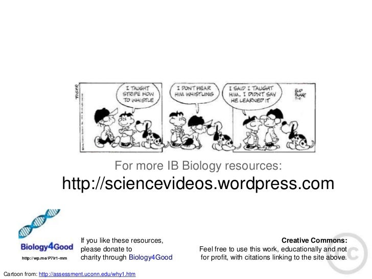 For more IB Biology resources:                         http://sciencevideos.wordpress.com                               If...