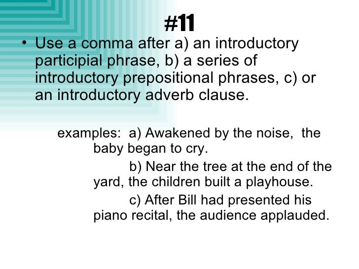 what is an introductory prepositional phrase